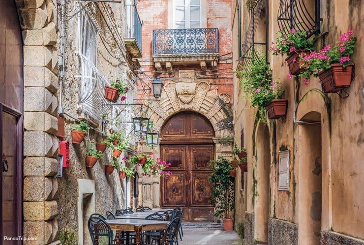 Cozy street in the Positano, the Amalfi Coast, Italy