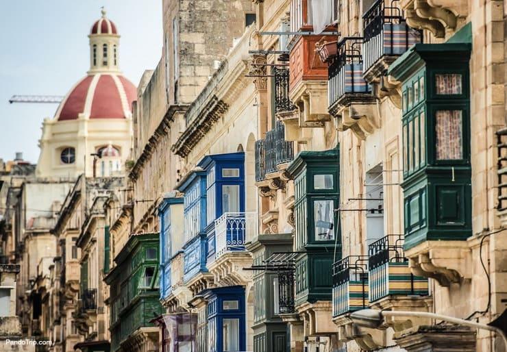 Historical part of Valletta, Malta
