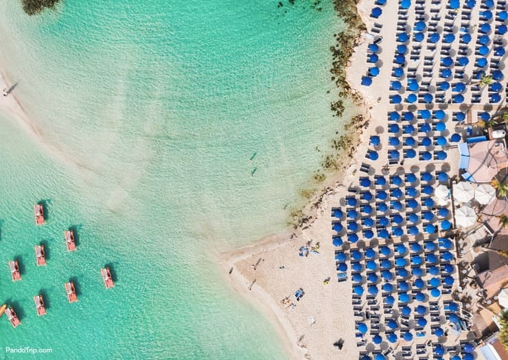 Nissi Beach - one of the most famous beaches in Cyprus