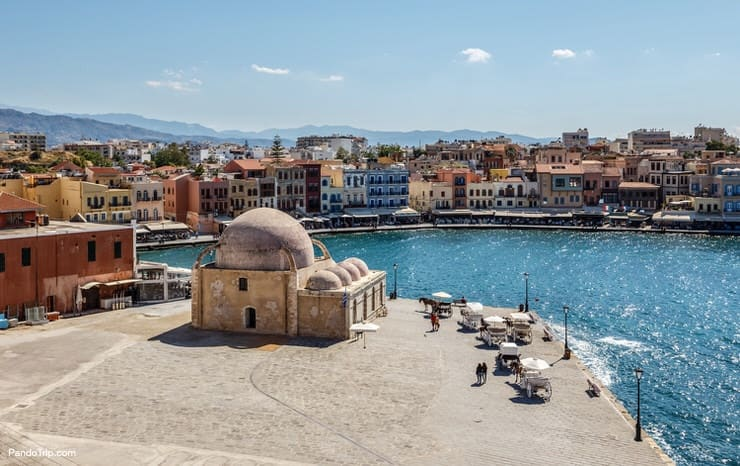 Old port of Chania town, Crete, Greece