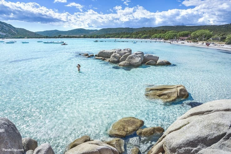 Santa Giulia Beach, Porto-Vecchio, Corsica, France