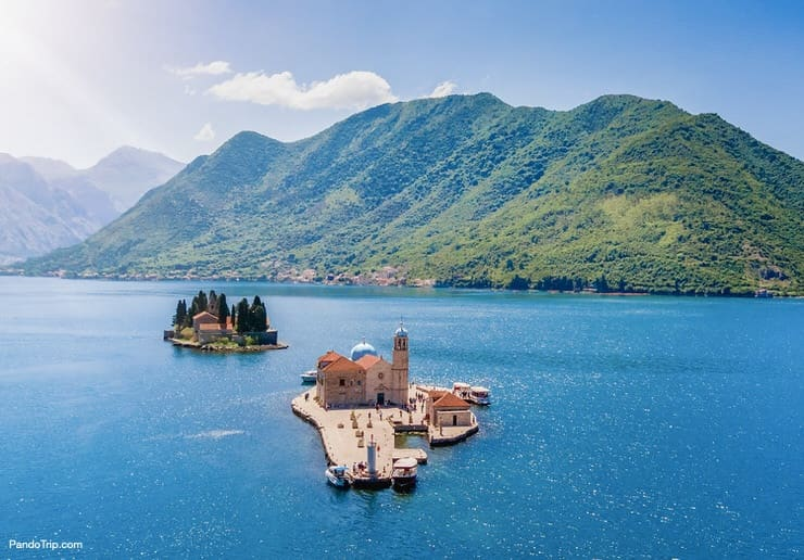 St George and Our Lady of the Rocks Islands, Bay of Kotor, Montenegro