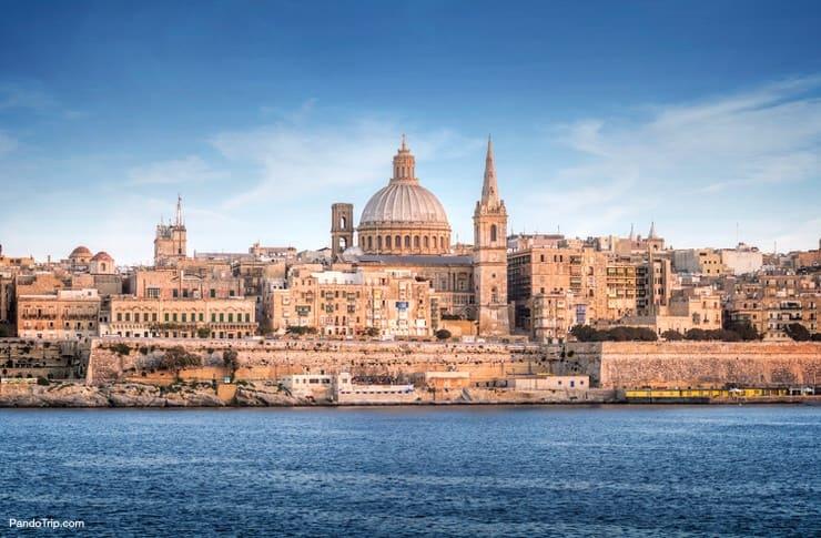 St. Pauls Cathedral in Valletta, Malta