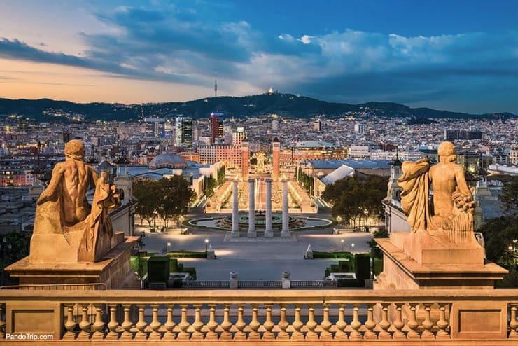 Sunset over Barcelona, Spain