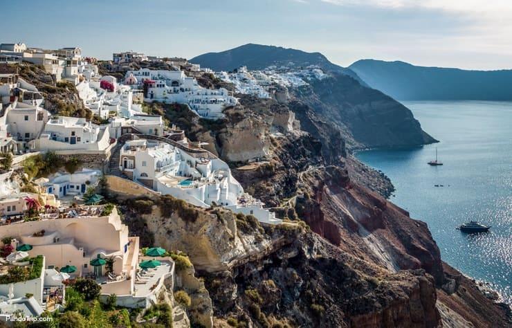 View to the Caldera from Oia village, Santorini, Greece