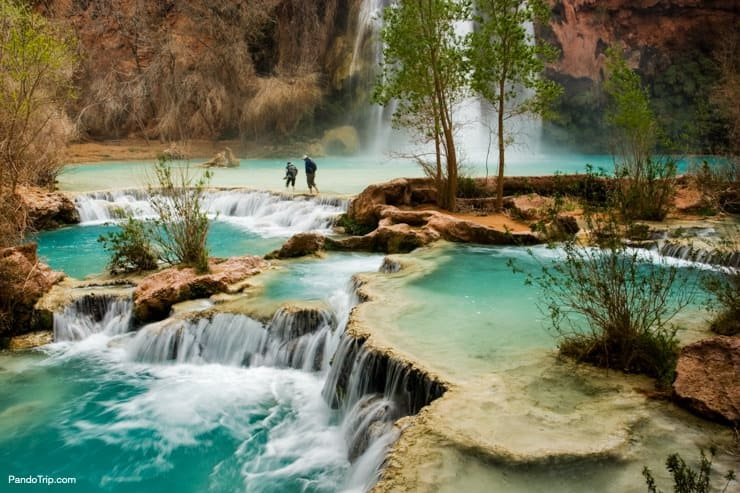 Hiking in Havasupai